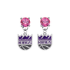 Sacramento Kings PINK Swarovski Crystal Stud Rhinestone Earrings