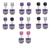 Sacramento Kings NBA Swarovski Crystal Stud Rhinestone Earrings