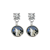 Minnesota Timberwolves CLEAR Swarovski Crystal Stud Rhinestone Earrings
