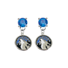 Minnesota Timberwolves BLUE Swarovski Crystal Stud Rhinestone Earrings