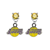 Los Angeles Lakers GOLD Swarovski Crystal Stud Rhinestone Earrings