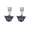 Phoenix Suns CLEAR Swarovski Crystal Stud Rhinestone Earrings