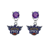 Phoenix Suns PURPLE Swarovski Crystal Stud Rhinestone Earrings