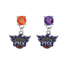 Phoenix Suns ORANGE & PURPLE Swarovski Crystal Stud Rhinestone Earrings