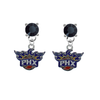 Phoenix Suns BLACK Swarovski Crystal Stud Rhinestone Earrings
