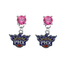 Phoenix Suns PINK Swarovski Crystal Stud Rhinestone Earrings