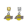 Los Angeles Lakers GOLD & CLEAR Swarovski Crystal Stud Rhinestone Earrings
