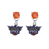 Phoenix Suns ORANGE Swarovski Crystal Stud Rhinestone Earrings