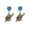 Washington Wizards BLUE Swarovski Crystal Stud Rhinestone Earrings