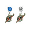 Washington Wizards BLUE & CLEAR Swarovski Crystal Stud Rhinestone Earrings