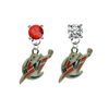 Washington Wizards RED & CLEAR Swarovski Crystal Stud Rhinestone Earrings
