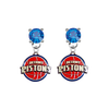 Detroit Pistons BLUE Swarovski Crystal Stud Rhinestone Earrings