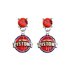Detroit Pistons RED Swarovski Crystal Stud Rhinestone Earrings