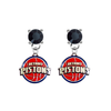 Detroit Pistons BLACK Swarovski Crystal Stud Rhinestone Earrings