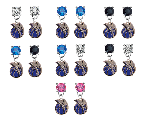 Dallas Mavericks NBA Swarovski Crystal Stud Rhinestone Earrings