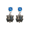Dallas Mavericks Style 2 BLUE Swarovski Crystal Stud Rhinestone Earrings