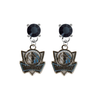 Dallas Mavericks Style 2 BLACK Swarovski Crystal Stud Rhinestone Earrings
