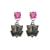 Dallas Mavericks Style 2 PINK Swarovski Crystal Stud Rhinestone Earrings