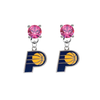 Indiana Pacers PINK Swarovski Crystal Stud Rhinestone Earrings