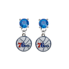 Philadelphia 76ers BLUE Swarovski Crystal Stud Rhinestone Earrings