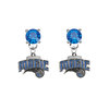 Orlando Magic BLUE Swarovski Crystal Stud Rhinestone Earrings