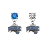 Orlando Magic BLUE & CLEAR Swarovski Crystal Stud Rhinestone Earrings