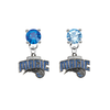 Orlando Magic BLUE & LIGHT BLUE Swarovski Crystal Stud Rhinestone Earrings