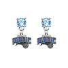 Orlando Magic LIGHT BLUE Swarovski Crystal Stud Rhinestone Earrings