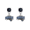 Orlando Magic BLACK Swarovski Crystal Stud Rhinestone Earrings