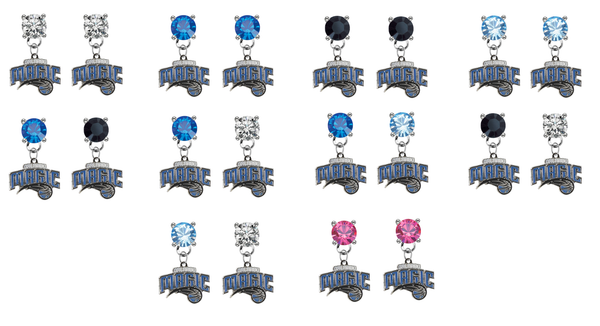 Orlando Magic NBA Swarovski Crystal Stud Rhinestone Earrings