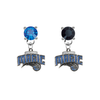 Orlando Magic BLUE & BLACK Swarovski Crystal Stud Rhinestone Earrings