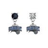 Orlando Magic BLACK & CLEAR Swarovski Crystal Stud Rhinestone Earrings