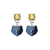 Memphis Grizzlies GOLD Swarovski Crystal Stud Rhinestone Earrings