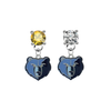 Memphis Grizzlies GOLD & CLEAR Swarovski Crystal Stud Rhinestone Earrings