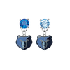 Memphis Grizzlies BLUE & LIGHT BLUE Swarovski Crystal Stud Rhinestone Earrings
