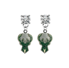 Milwaukee Bucks CLEAR Swarovski Crystal Stud Rhinestone Earrings