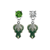 Milwaukee Bucks GREEN & CLEAR Swarovski Crystal Stud Rhinestone Earrings