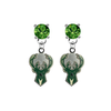 Milwaukee Bucks GREEN Swarovski Crystal Stud Rhinestone Earrings