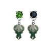 Milwaukee Bucks GREEN & BLACK Swarovski Crystal Stud Rhinestone Earrings