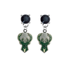 Milwaukee Bucks BLACK Swarovski Crystal Stud Rhinestone Earrings