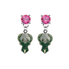 Milwaukee Bucks PINK Swarovski Crystal Stud Rhinestone Earrings