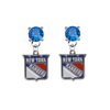 New York Rangers BLUE Swarovski Crystal Stud Rhinestone Earrings