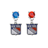 New York Rangers BLUE & RED Swarovski Crystal Stud Rhinestone Earrings
