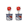 New York Rangers RED Swarovski Crystal Stud Rhinestone Earrings