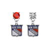 New York Rangers RED & CLEAR Swarovski Crystal Stud Rhinestone Earrings