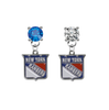 New York Rangers BLUE & CLEAR Swarovski Crystal Stud Rhinestone Earrings