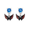 Washington Capitals BLUE Swarovski Crystal Stud Rhinestone Earrings