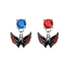 Washington Capitals BLUE & RED Swarovski Crystal Stud Rhinestone Earrings