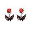 Washington Capitals RED Swarovski Crystal Stud Rhinestone Earrings