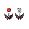 Washington Capitals RED & CLEAR Swarovski Crystal Stud Rhinestone Earrings